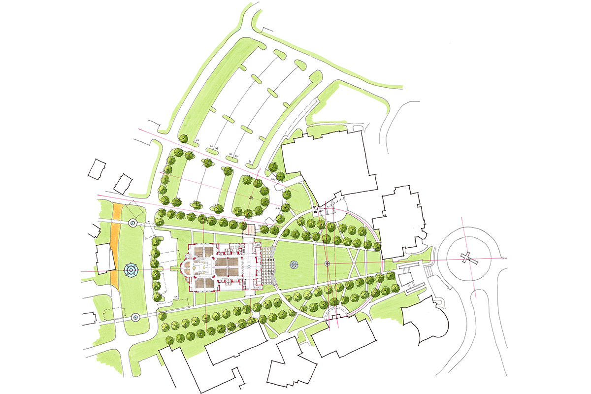 Franciscan University Campus Map.Meleca Architects Llc Franciscan University Chapel